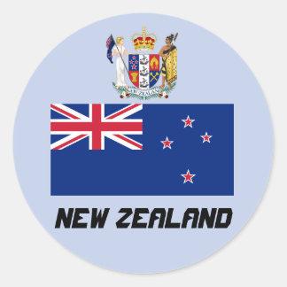 Klassischer runder Aufkleber Neuseelands