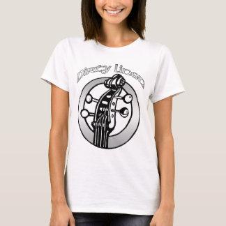 Klassischer schmutziger LeinenT - Shirt das logo