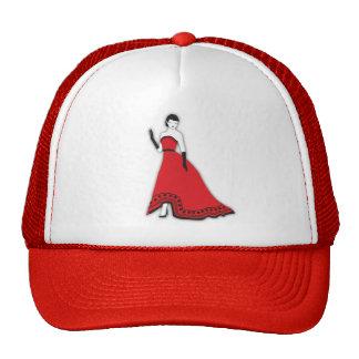 Klassischer Senorita im Rot Mützen