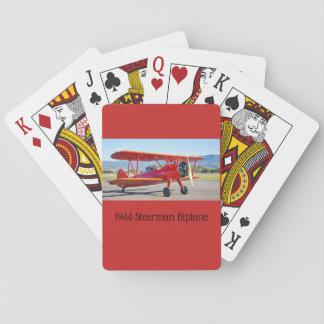 Klassischer Stearman Doppeldecker-Spielkarten Spielkarten