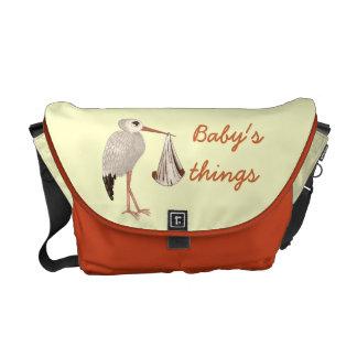 Klassischer Storch (neutrale) 2 (Babyparty) Kurier Taschen
