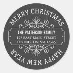 Klassischer Tafel-frohe Weihnacht-Aufkleber