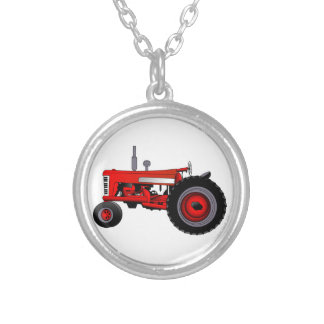 Klassischer Traktor Versilberte Kette