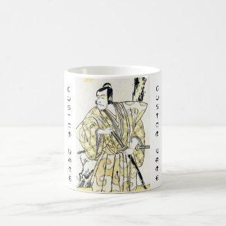 Klassischer Vintager japanischer Schauspieler als Kaffeetasse