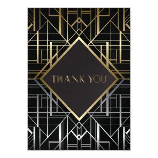Klassischer Wedding Gatsby Deko danken Ihnen 2 11,4 X 15,9 Cm Einladungskarte