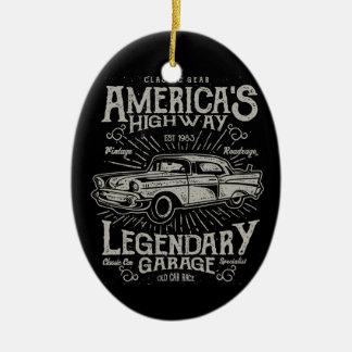 Klassisches amerikanisches Landstraße des Keramik Ornament