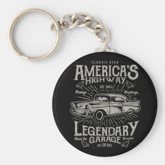 Klassisches amerikanisches Landstraße des Schlüsselanhänger