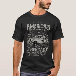 Klassisches amerikanisches Landstraße des T-Shirt