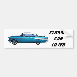 Klassisches Auto Chevy 1957 BelAire Autoaufkleber