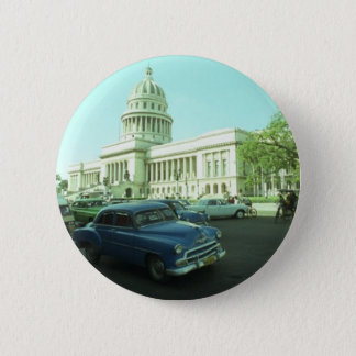 Klassisches Auto Havana Kuba Runder Button 5,7 Cm