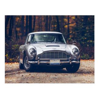 Klassisches Auto Vintages retro, Silber Postkarte
