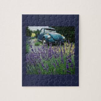 Klassisches Automobil u. Lavendel Puzzle