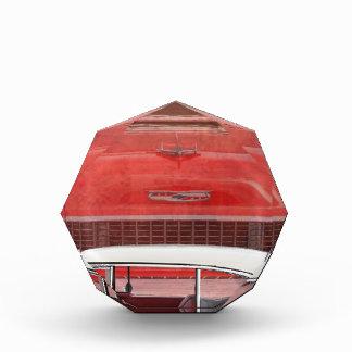 Klassisches Autos Chevy Bel Air Dodge-rotes weißes Auszeichnung