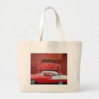Klassisches Autos Chevy Bel Air Dodge-rotes weißes Jumbo Stoffbeutel