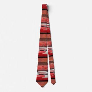 Klassisches Autos Chevy Bel Air Dodge-rotes weißes Personalisierte Krawatten