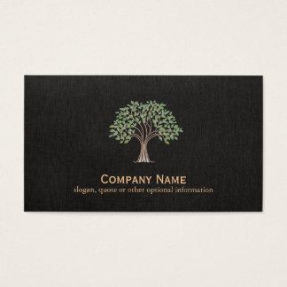 Klassisches Baum-Logo Visitenkarte