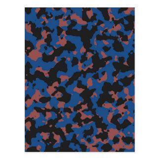 Klassisches Blau - Marsala Tarnungs-Muster Postkarte