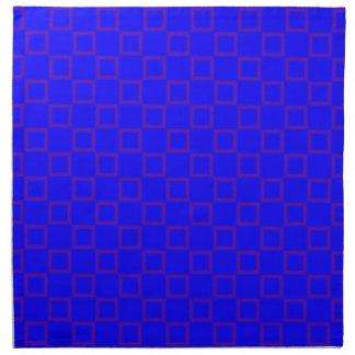 Klassisches Blau mit lila Serviette