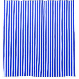 Klassisches blaues weißes Streifen-Muster Duschvorhang