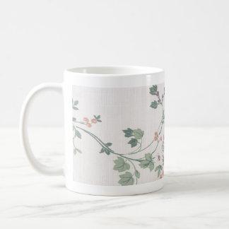 Klassisches Blumen Kaffeetasse
