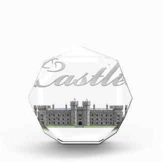 Klassisches britisches Schloss mit Schloss-Text Auszeichnung