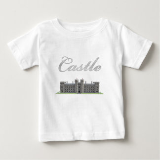 Klassisches britisches Schloss mit Schloss-Text Baby T-shirt