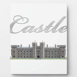 Klassisches britisches Schloss mit Schloss-Text Fotoplatte