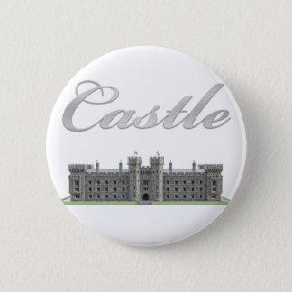 Klassisches britisches Schloss mit Schloss-Text Runder Button 5,7 Cm