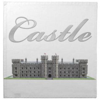 Klassisches britisches Schloss mit Schloss-Text Serviette
