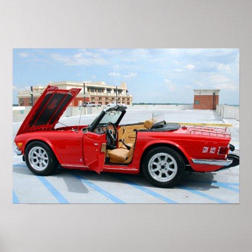 Klassisches britisches Sport-Auto Poster