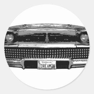 Klassisches Chevy Runder Aufkleber