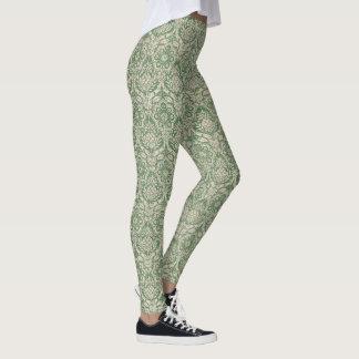 Klassisches Damastgrünmuster Leggings