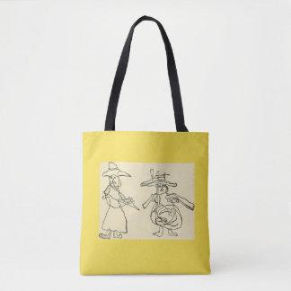 Klassisches der Taschen-| Gelb Gekritzel-der Tasche