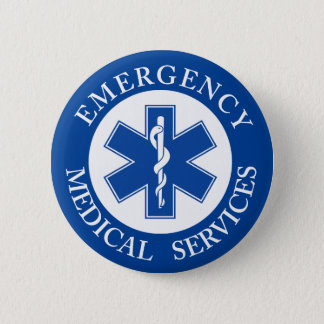 Klassisches EMT EMS Sanitäter-Symbol Runder Button 5,7 Cm