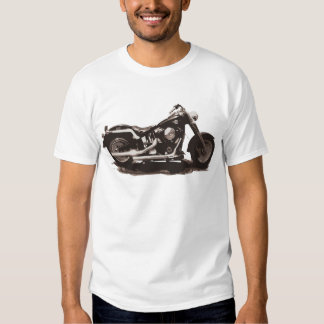 Klassisches fettes Jungen-Motorrad T Shirts