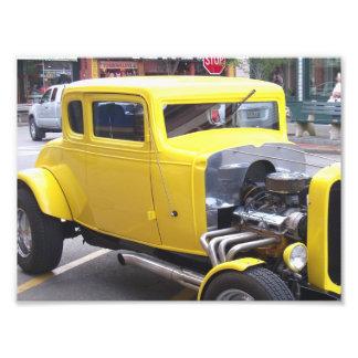 Klassisches gelbes Auto Photographie