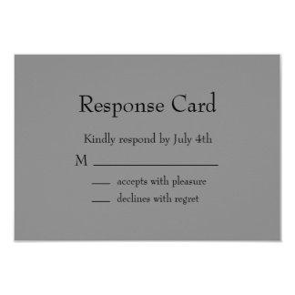 Klassisches graues Bar Mitzvah UAWG 8,9 X 12,7 Cm Einladungskarte