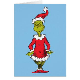 Klassisches Grinch | Weihnachtsmann Karte