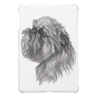 Klassisches Hundeprofil Brüssels Griffon Zeichnen iPad Mini Hülle