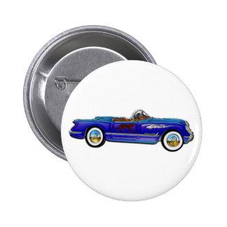 Klassisches Kabriolett Chevrolets Runder Button 5,1 Cm