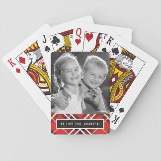 Klassisches kariertes kundenspezifisches spielkarten