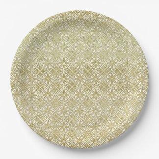 Goldene hochzeit teller for Pappteller gold