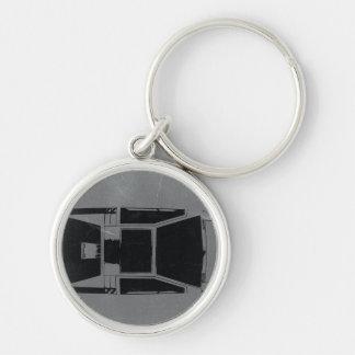 Klassisches Konzept-Auto Silberfarbener Runder Schlüsselanhänger
