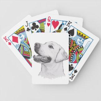 Klassisches Labrador-Retriever-Hundeprofil Bicycle Spielkarten