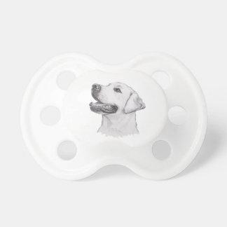 Klassisches Labrador-Retriever-Hundeprofil Schnuller