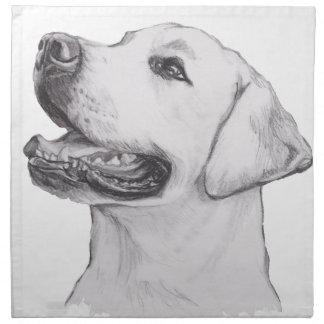 Klassisches Labrador-Retriever-Hundeprofil Stoffserviette