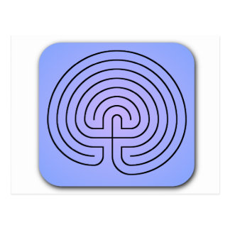 Klassisches Labyrinth Postkarte