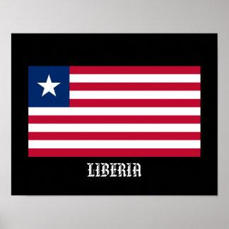 Klassisches Liberia-Flaggen-Plakat für Zuhause Poster