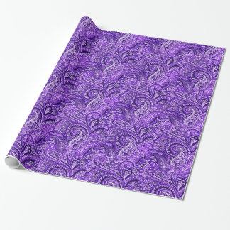 Klassisches lila Paisley-Verpackungs-Papier Geschenkpapier