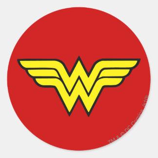 Klassisches Logo der Wunder-Frauen-| Runder Aufkleber
